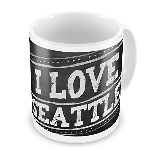 Coffee Mug Chalkboard With I Love Seattle - Neonblond
