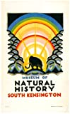 WONDERFUL A4 GLOSSY PRINT - 'LONDON UNDERGROUND - MUSEUM OF NATURAL HISTORY' - 1923 (A4 PRINTS - VINTAGE RAILWAY ADVERTISING POSTERS)