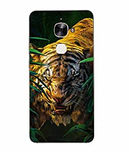 Make My Print Tiger Printed Green Hard Back Cover For Letv Le Max 2