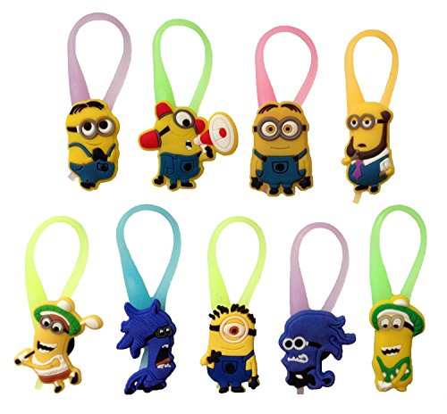 Despicable-Me-Luminescent-Colorful-Silicone-Snap-Lock-Zipper-Pulls-9-Pcs-Set-2