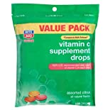Rite Aid Vitamin C Drops, Assorted Citrus Flavors, Value Pack, 100 ct