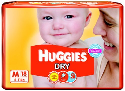 Huggies Dry Diapers Medium Size (18 Count)