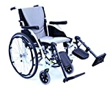 Karman S-ERGO115F18W-E Ultra Lightweight Limited Edition Wheelchair with Elevating Legrest, Alpine White, 18 x 17 Inch, 25 Pound
