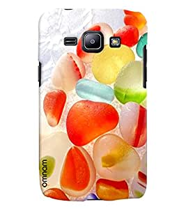 Omnam Fruit Jelly Colorful Printed Designer Back Cover Case For Samsung Galaxy J1