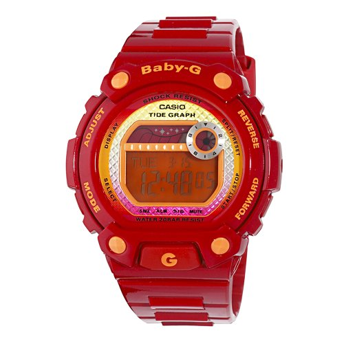 Casio Women's BLX100-4 Baby-G Multi-Function Digital Red Resin Sport Watch