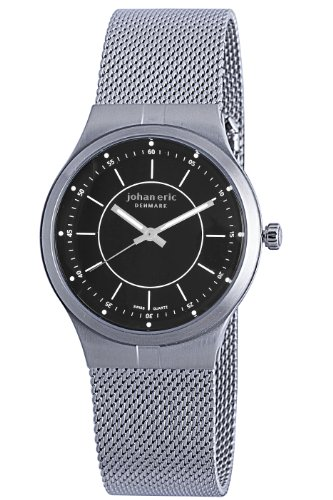 Johan Eric JE3100-04-007 - Reloj de pulsera hombre, acero inoxidable, color plateado