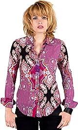 Plum Ornamental Paisley Shirt