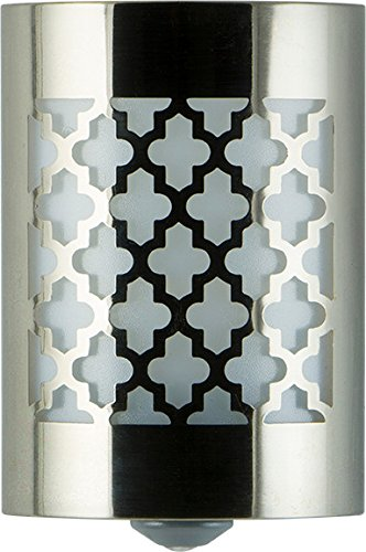 GE 29847 LED Coverlite Moroccan Brushed Nickel Auto Night Light (Auto Night Light compare prices)