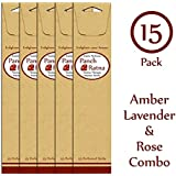 Panchratan Perfumed Charcoal Incense Sticks ( Pack Of 15, 23cms, Amber, Lavender And Rose Fragrance )