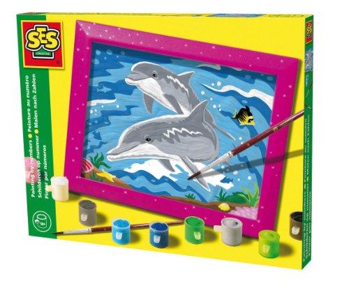 Imagen principal de SES creative 01511 - Juego de pintura por números diseño Delfines [Importado de Alemania]