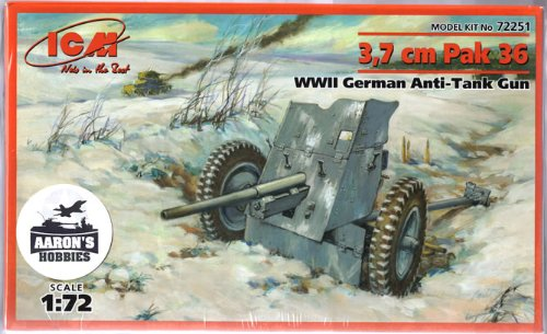 ICM Models PaK 36 Building Kit, 3.7cm - 1