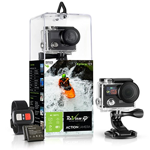 Review-XP-4K-Wi-Fi-Waterproof-Sports-Action-Camera-16MP-SONY-Sensor-30fps-HD-Video-Underwater-Camcorder-170-Wide-Angle-Dual-Lens-Screen-2-Batteries-Accessories-Kit-Remote-Control-Black