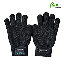 DOLIROX® Wireless Bluetooth Gloves-talking Headset Magic Glove Fingers Telephone with Touch Screen Function (Black)