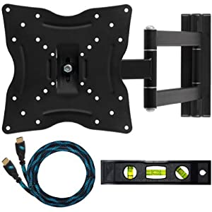 Cheetah Mounts ALAMLB LCD TV Wall Mount Bracket with Full Motion Swing Out Tilt and Swivel Articulating Arm