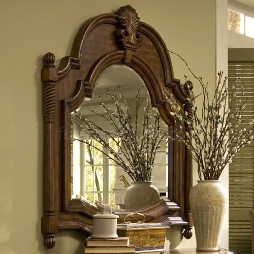 Cheap Console Table Mirror by AICO – Tudor Brown – 37 (35260-37) (35260-37)
