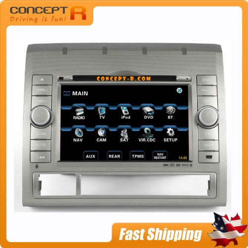 2005-2012 Toyota Tacoma In-dash DVD GPS Navigation Stereo Satellite Sirius Ready Bluetooth Deck AV Receiver CD Player Stereo Touch Screen with Rear View Camera input Digital TV Tire Pressure Monitoring System option Astrium GEE-5985 (Toyota Tacoma Stereo System compare prices)