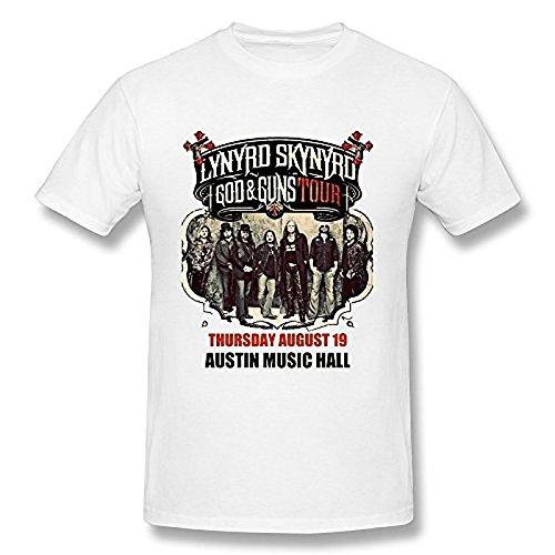 Men's Lynyrd Skynyrd Gary Rossington T Shirt White