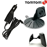 TOMTOM Original OEM Suction Mount and Car Charger Cable Cord Kit for TOM TOM GO 520 530 540 620 630 640 720 730 740 920 930 T GPS Navigators