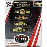 WWE Championship Collectors Five Belt Pack Elite Ringside Exclusive Mattel Toy Wrestling Action Figure Accessories Pack