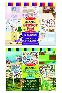Melissa & Doug Reusable Sticker Pad Bundle (Pack of 2)