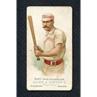1887 N28 Allen & Ginter Jack Glasscock Indianapolis VG/VG-EX 283883 Kit Young Cards