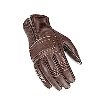 Joe Rocket Cafe Racer Mens Street Motorcycle Leather Gloves - Brown / Large