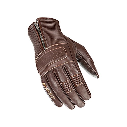 Joe Rocket Cafe Racer Mens Street Motorcycle Leather Gloves - Brown / Large 0