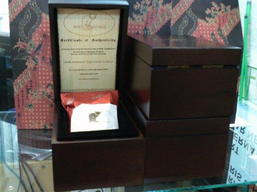 Original Luwak Coffee Arabica Indonesia With Gift Box