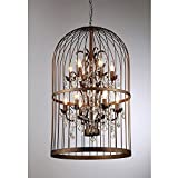 Rinee Cage 12-light Antique Bronze Chandelier