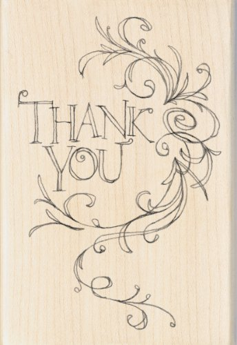 Thank You Flourish Rubber Stamp