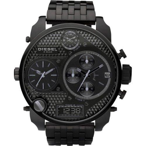 Diesel Men's DZ7214 Black Stainless-Steel Quartz Watch with Black Dial