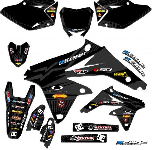 Senge Graphics 2005-2006 Suzuki RMZ 450 Mayhem Black Graphics Kits (06 Rmz 450 Parts compare prices)