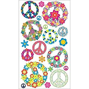 Amazon.com: Sticko Floral Peace Signs Stickers