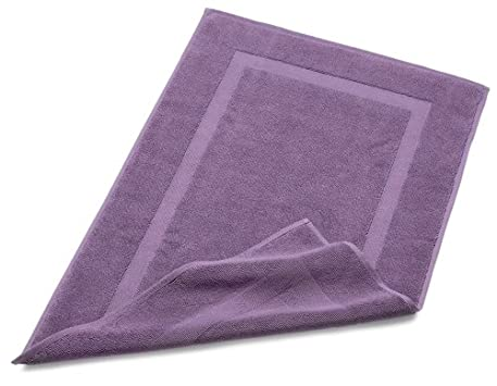 Pinzon Luxury Banded Bath Mat, Plum