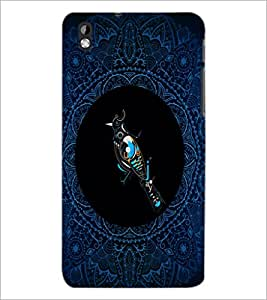 PrintDhaba Pattern D-4168 Back Case Cover for HTC DESIRE 816 (Multi-Coloured)