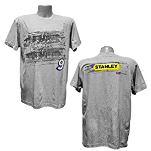 Buy #9 Marcos Ambrose Stanley Tools Mens Grey Blur Tee by Brickels