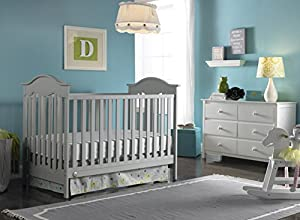Fisher-Price Charlotte 3-in-1 Convertible Crib, Misty Grey