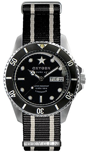 OXYGEN EX-DV-CIG-42-NN-BLIVBL - Reloj de pulsera unisex, nailon, color negro
