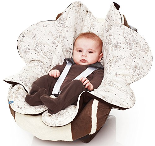 Wallaboo Baby Blanket with Durable Faux Suede and 100% Printed Pure Cotton, Baby Black, 0-12 Months