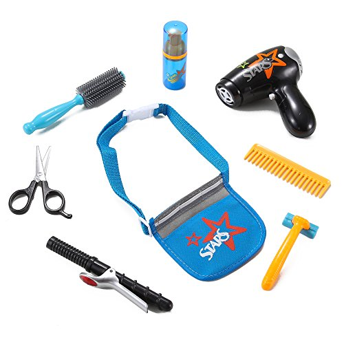 Star Stylist Beauty Salon Fashion Play Set with Hairdryer, Curling Iron, Tool Belt & Styling Accessories by Liberty Imports (Play Blow Dryer compare prices)