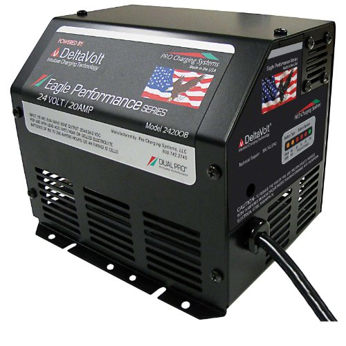 24V 20Ah Dual Pro Eagle Genie Lift Battery Charger On-Board IEC by Pro Charging Solutions
