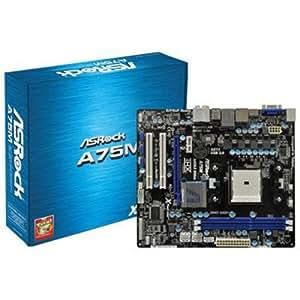 ASRock MB-A75M Socket FM1/ AMD A75 FCH/ SATA3&USB3.0/ A&GbE/ Micro ATX Motherboard