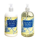 Fresh Milk Shea Butter Hand & Body Lotion And Fresh Milk Shea Butter Hand Soap Duo Set 16 Oz Each By Greenwich Bay Trading Co.