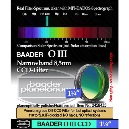 Baader Planetarium 8.5Nm Oiii Ccd Filter, 1.25""