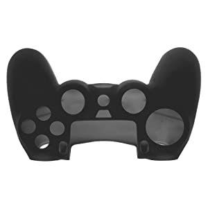 SlickBlue 2 Pack Flexible Silicone Protective Skin Case For Sony PS4 Game Controller - Black [PlayStation 4] (Color: 2-Pack-Black)