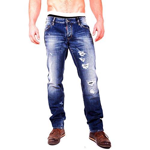 """Dsquared2 Herren Jeans Mod: """"Slim jeans"""", S71LA0747, Boot Cut,100% Baumwolle, W 50 cm / L 113 cm, Größer 54 thumbnail"""
