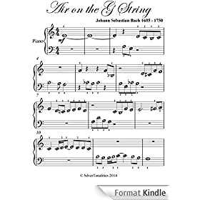 Air on the G String Easy Beginner Piano Sheet Music (English Edition)