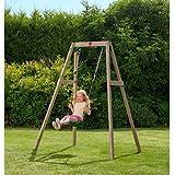 Plum Wooden Single Swing