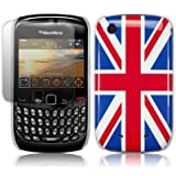 BLACKBERRY CURVE 8520 UNION JACK BACK COVER CASE WITH SCREEN PROTECTOR PART OF THE QUBITS ACCESSORIES RANGEby Qubits