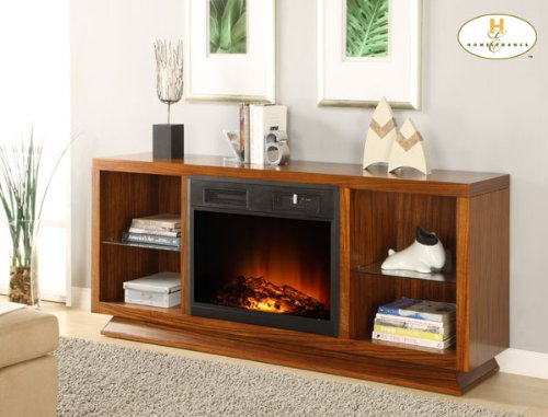 Cheap Crystal Fireplace TV Stand By Homelegance Furniture (8104-F102)